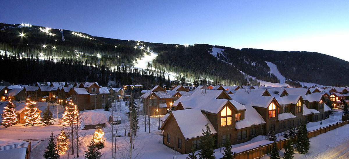 Keystone is beautiful at night. Views like this are enjoyed by fractional owners.